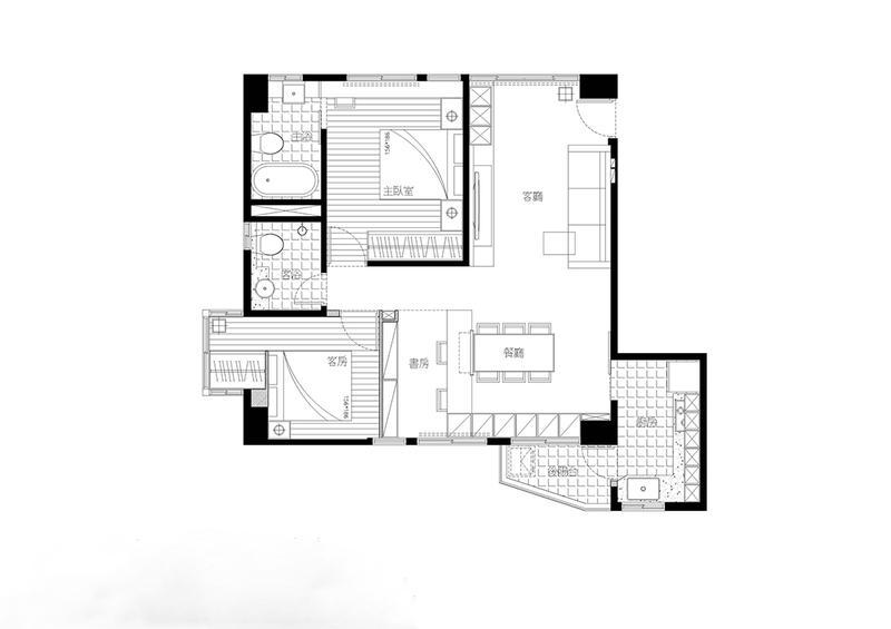 老宅放大术 78平现代风木色二居设计